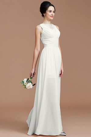 Ruched Zipper Up Natural Waist Jewel Sleeveless Bridesmaid Dress - 22