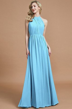 Sleeveless Floor Length A-Line Scoop Bridesmaid Dress - 8