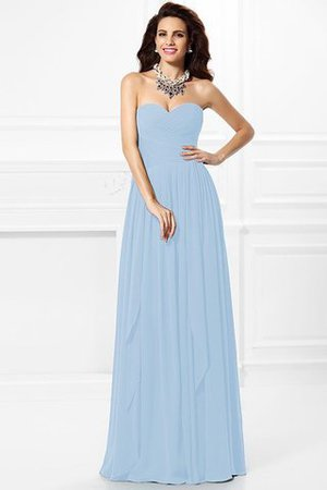 A-Line Zipper Up Long Floor Length Bridesmaid Dress - 19