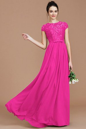 A-Line Jewel Lace Short Sleeves Bridesmaid Dress - 17