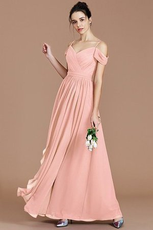 Chiffon Floor Length A-Line Ruched Bridesmaid Dress - 27