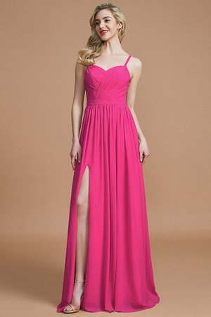 Natural Waist Sleeveless Floor Length Princess Chiffon Bridesmaid Dress - 16