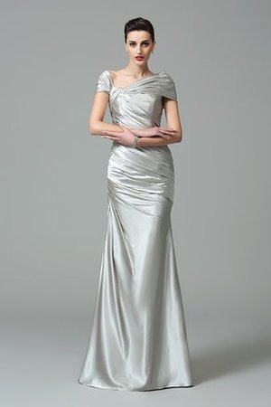 Sheath Off The Shoulder Pleated Long Floor Length Evening Dress - 3