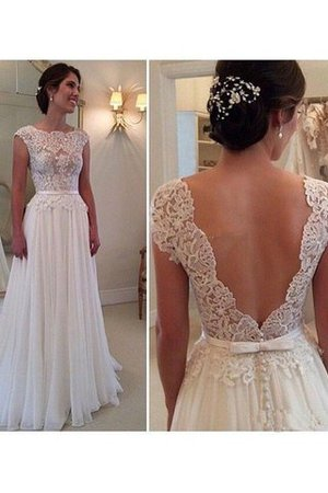 Sleeveless Apple Natural Waist Pear Inverted Triangle Wedding Dress - 1