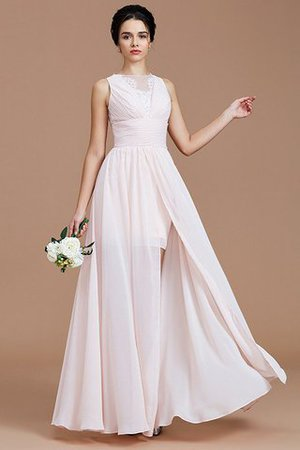 Ruched Zipper Up Natural Waist Jewel Sleeveless Bridesmaid Dress - 5