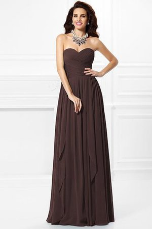 A-Line Zipper Up Long Floor Length Bridesmaid Dress - 7