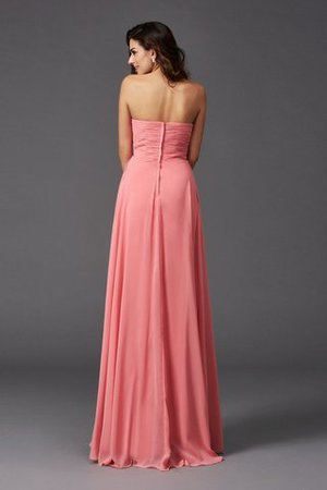 A-Line Sleeveless Chiffon Empire Waist Bridesmaid Dress - 30