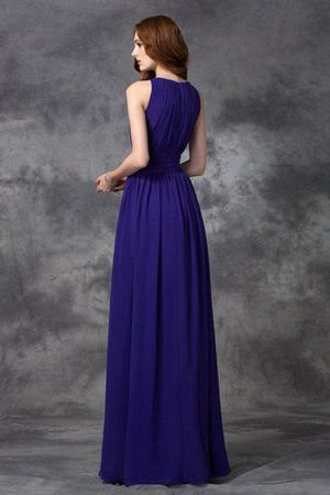 Sleeveless Ruched Natural Waist Chiffon Long Bridesmaid Dress - 30