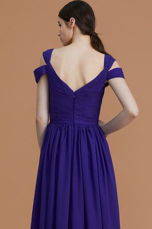 Natural Waist A-Line Ruched Floor Length Bridesmaid Dress - 9
