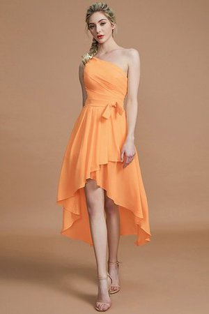 Asymmetrical Chiffon Natural Waist Bridesmaid Dress - 25