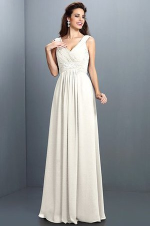 A-Line Chiffon Long Sleeveless Bridesmaid Dress - 16