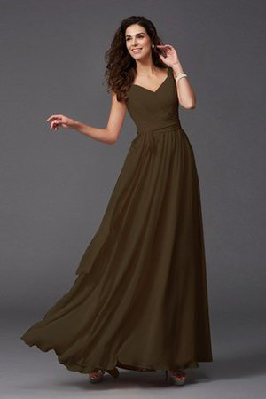 Sashes Floor Length Spaghetti Straps A-Line Bridesmaid Dress - 29