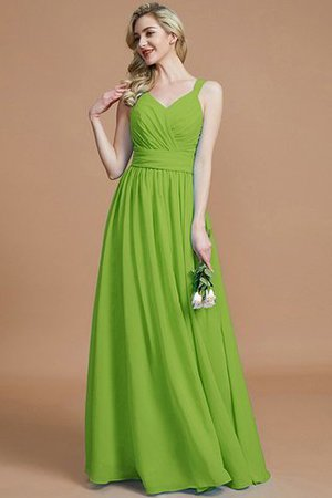 Sleeveless Natural Waist A-Line V-Neck Bridesmaid Dress - 20
