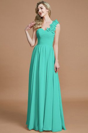 Sleeveless Natural Waist One Shoulder A-Line Chiffon Bridesmaid Dress - 20