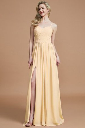 Natural Waist Sleeveless Floor Length Princess Chiffon Bridesmaid Dress - 11