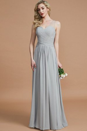 Natural Waist Floor Length A-Line V-Neck Bridesmaid Dress - 1