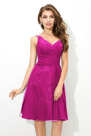 Chiffon Princess Sleeveless Natural Waist Draped Bridesmaid Dress - 11