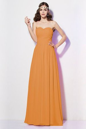Pleated Zipper Up Empire Waist A-Line Bridesmaid Dress - 24