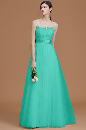 Tulle Zipper Up A-Line Appliques Bridesmaid Dress - 21