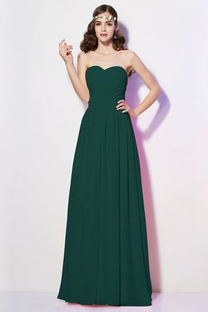 Pleated Zipper Up Empire Waist A-Line Bridesmaid Dress - 10