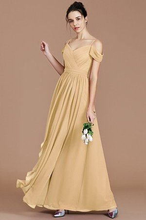 Chiffon Floor Length A-Line Ruched Bridesmaid Dress - 18