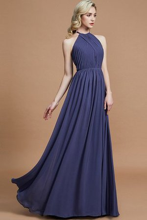 Sleeveless Floor Length A-Line Scoop Bridesmaid Dress - 6