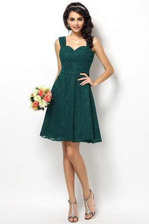 Wide Straps Short Sleeveless Natural Waist Satin Bridesmaid Dress - 9