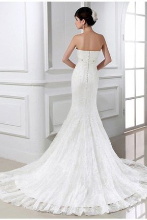 Sleeveless Mermaid Tulle Beading Zipper Up Wedding Dress - 2