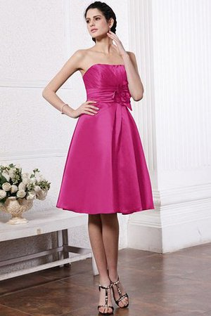 Zipper Up Princess Short Flowers Pleated Bridesmaid Dress - 11