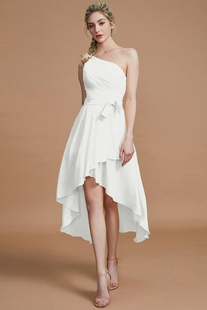 Asymmetrical Chiffon Natural Waist Bridesmaid Dress - 21