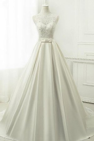 Chiffon 3/4 Length Sleeves Tea Length Sequined Lace Fabric Wedding Dress - 1
