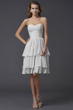 Short Chiffon Sheath Sleeveless Zipper Up Bridesmaid Dress - 16