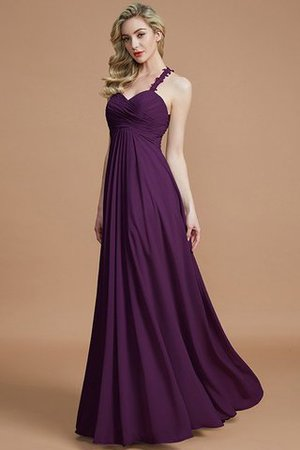 Natural Waist Floor Length Sweetheart Ruched Princess Bridesmaid Dress - 19