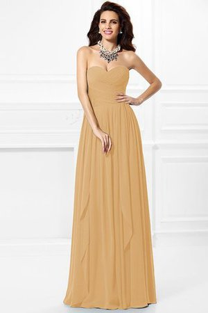 A-Line Zipper Up Long Floor Length Bridesmaid Dress - 14
