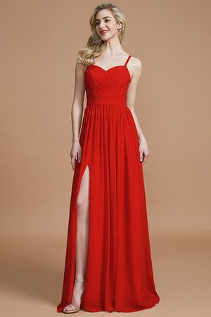 Natural Waist Sleeveless Floor Length Princess Chiffon Bridesmaid Dress - 27