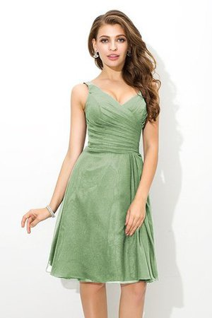 Chiffon Princess Sleeveless Natural Waist Draped Bridesmaid Dress - 26