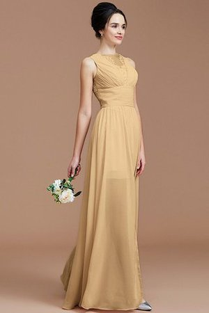 Ruched Zipper Up Natural Waist Jewel Sleeveless Bridesmaid Dress - 17