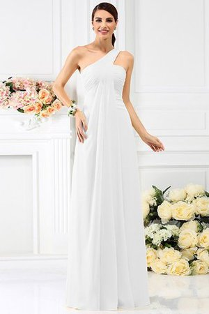 Zipper Up Long Floor Length A-Line Bridesmaid Dress - 29