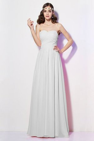 Pleated Zipper Up Empire Waist A-Line Bridesmaid Dress - 19
