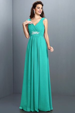 A-Line Chiffon Long Sleeveless Bridesmaid Dress - 15