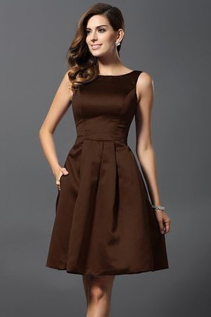 A-Line Knee Length Natural Waist Bridesmaid Dress - 7