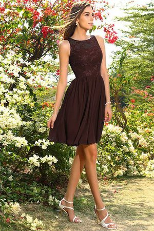 A-Line Natural Waist Sleeveless Chiffon Short Bridesmaid Dress - 7