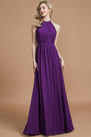 Sleeveless Floor Length A-Line Scoop Bridesmaid Dress - 18
