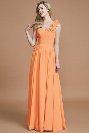 Sleeveless Natural Waist One Shoulder A-Line Chiffon Bridesmaid Dress - 25