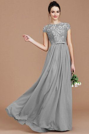 A-Line Jewel Lace Short Sleeves Bridesmaid Dress - 33