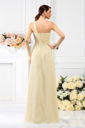 Zipper Up Long Floor Length A-Line Bridesmaid Dress - 30