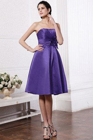 Zipper Up Princess Short Flowers Pleated Bridesmaid Dress - 27