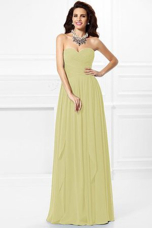 A-Line Zipper Up Long Floor Length Bridesmaid Dress - 6