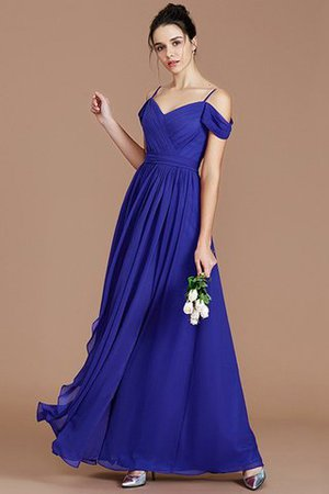 Chiffon Floor Length A-Line Ruched Bridesmaid Dress - 31