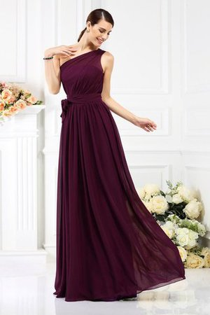 Long Sleeveless A-Line One Shoulder Bridesmaid Dress - 1